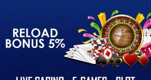 RELOAD BONUS 5% LIVE CASINO - E-GAMES - SLOT banner